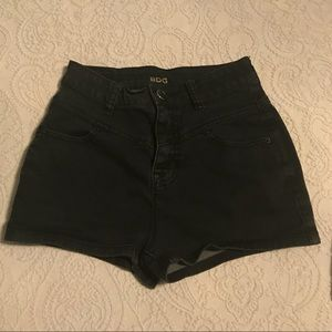 Urban Outfitters Black Denim High Waisted Shorts